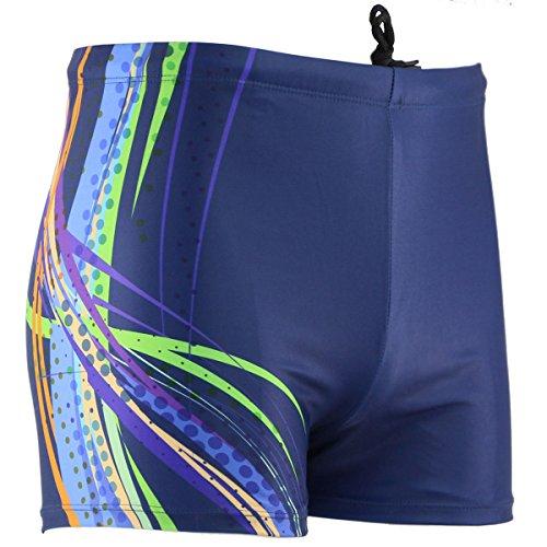 Neleus+Men%27s+Solid+Square+Leg+Swimwear%2C3%23+Blue%2CUS+L%2CAsia+3XL