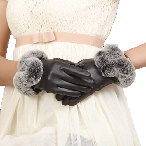HOMEE Gloves Female Autumn Winter Cute Thick Warm Car Ride Wind and Water