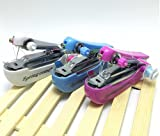 片手で縫える ポータブルタイプの携帯ミシン ミニハンドヘルド手動ミシン糸通し 巻き取り棒付き カラー(ランダム)