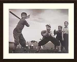 Framed Art Print 'The Baseball Game' by William Grancel Fitz