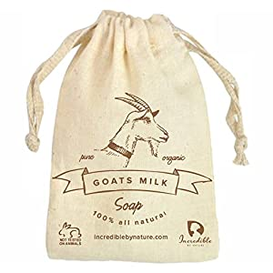 #1 Best Quality All Natural Handmade Goat Milk Soap (2 Bars) - Raw Organic Moisturizing Soap for Acne, Dry Skin, Eczema, Psoriasis, Rashes, Burns, & Sensitive Skin (Unscented) - Incredible By Nature