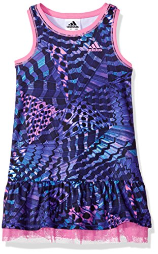 adidas Little Girls' Active Polo Dress, Adi Wing It Print, 6X - Adi Dress