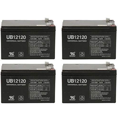 Universal Power Group 12V 12Ah Replacement Battery for Rad2GoO Tiger Shark E-10 Electric Scooter - 4 Pack