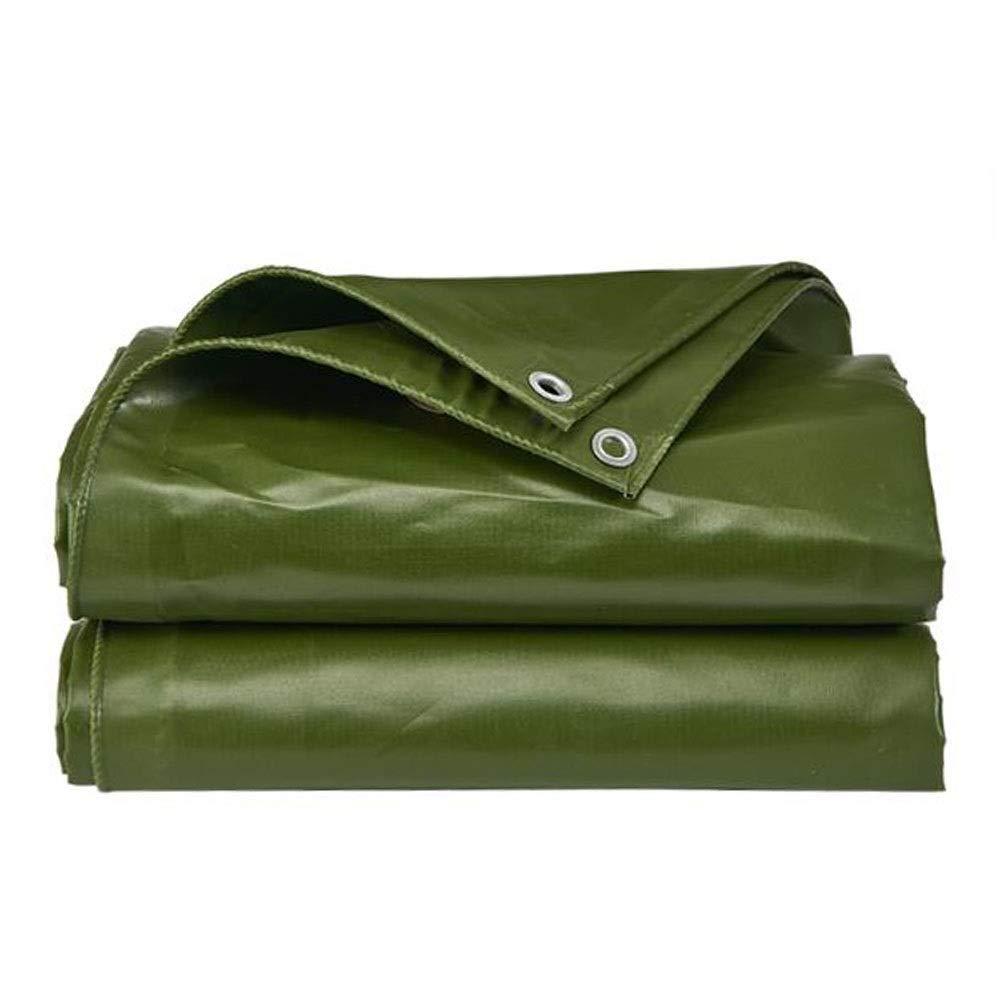 DALL ターポリン 多目的 ヘビーデューティ レインカバー 防水 アウトドア 日焼け止め メタルボタンホール 600g /m² 厚さ0.6mm (Color : 緑, Size : 5×7m) 緑 5×7m