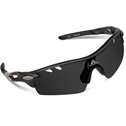 5311bf532f HODGSON Polarized Sports Sunglasses with 5 Interchangeable Lenses for Men  Women Cycling Baseball Running Fishing Driving Golf Glasses