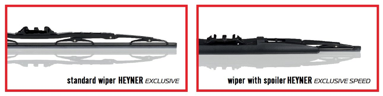 Conjunto de 3 HEYNER EXLUSIVE +Spoiler escobillas del limpiaparabrisas [NISS350Z] HES201818H: Amazon.es: Coche y moto