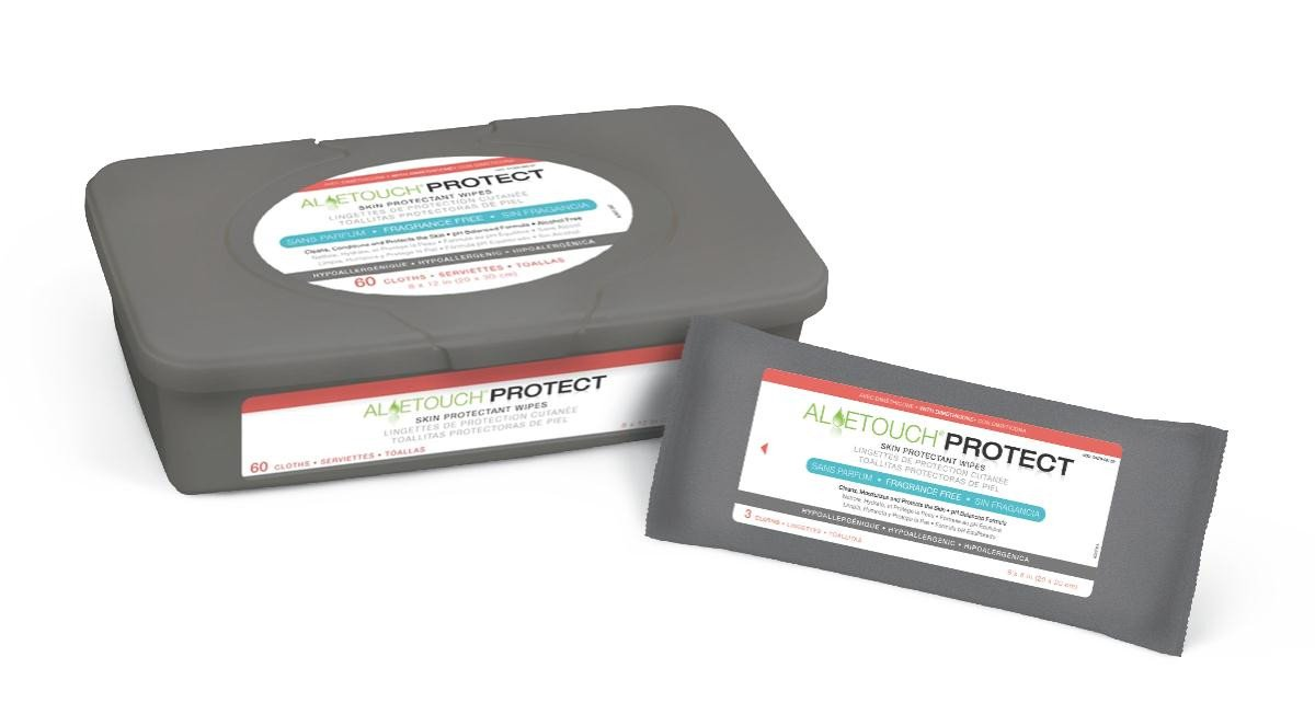 Amazon.com: Aloetouch PROTECT Dimethicone Skin Protectant Wipes | Medline: Health & Personal Care