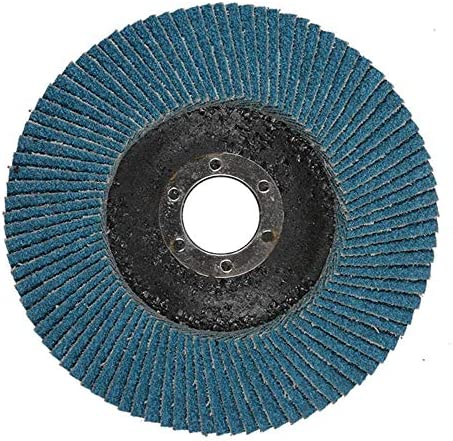 10 Pieces 115x22mm Zirconium Corundum Sanding Grinding Wheels Impeller Sandpaper Polishing Discs Pads Wheel Angle Grinder,Blue,115x22mm