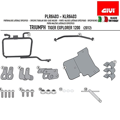 GIVI PLR6408 Rapid Release Monokey Tubular Side-Case Holder - Triumph Tiger Xplorer 1200 ()