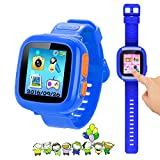 "Kids Game Watch Smart Watch For Kids Children's Birthday Gift With 1.5 "" Touch Screen And 10 Games, Children's Watch Pedometer Clock Smart Watch Kids Toys Boys Girls gift.(Deep Blue)"