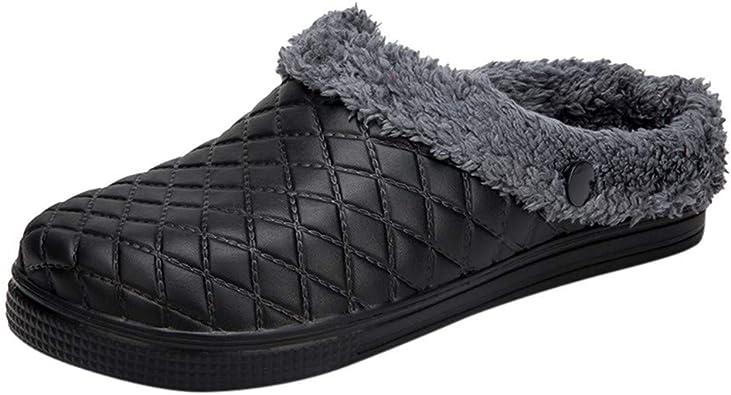 Zapatillas Hombre Invierno Pantuflas Caliente Casa Slippers ...
