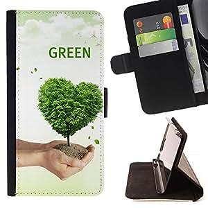 Momo Phone Case / Flip Funda de Cuero Case Cover - Corazón del amor de la naturaleza del árbol - LG G2 D800