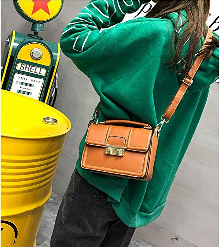 Female Small Bag Simple Hongge Fashion Bag Lady Bag Square Mini Oblique D PU Single Shoulder vOwqxO7EnA