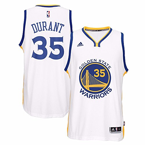 adidas Kevin Durant Golden State Warriors NBA Home Climacool Swingman Jersey for Men (XXX-Large)