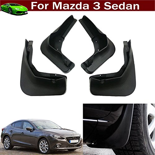 Mazda Rear Fender - 4pcs Car Mud Flap Splash Guard Fender Mudguard Mudflap For Mazda 3 Sedan 2014 2015 2016 2017 2018