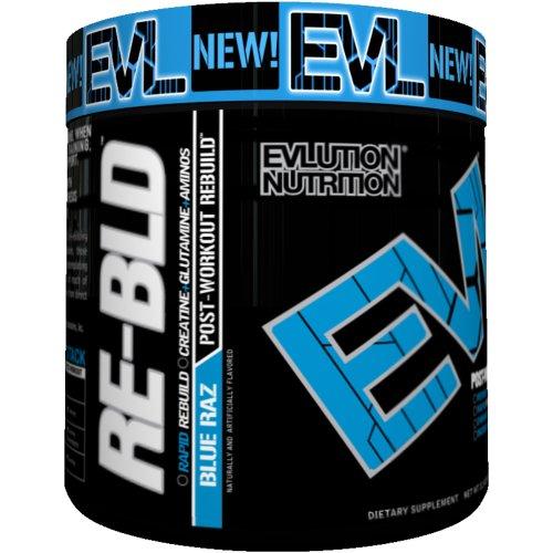 Construire Supplément Evlution Nutrition Re, Bleu Raz, 11,5 once