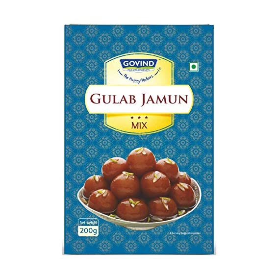 Govind Milk & Milk Products Pvt. Ltd. Gulab Jamun Mix, 200gm (Pack of 2)