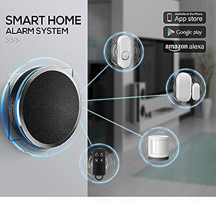 Sistema de Alarma de Seguridad para el hogar con WiFi Inteligente, Funciona con Google Home