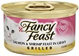Fancy Feast Gourmet Cat Food, Grilled Salmon and Shrimp Feast in Gravy, 3-Ounce Cans (Pack of 24), My Pet Supplies
