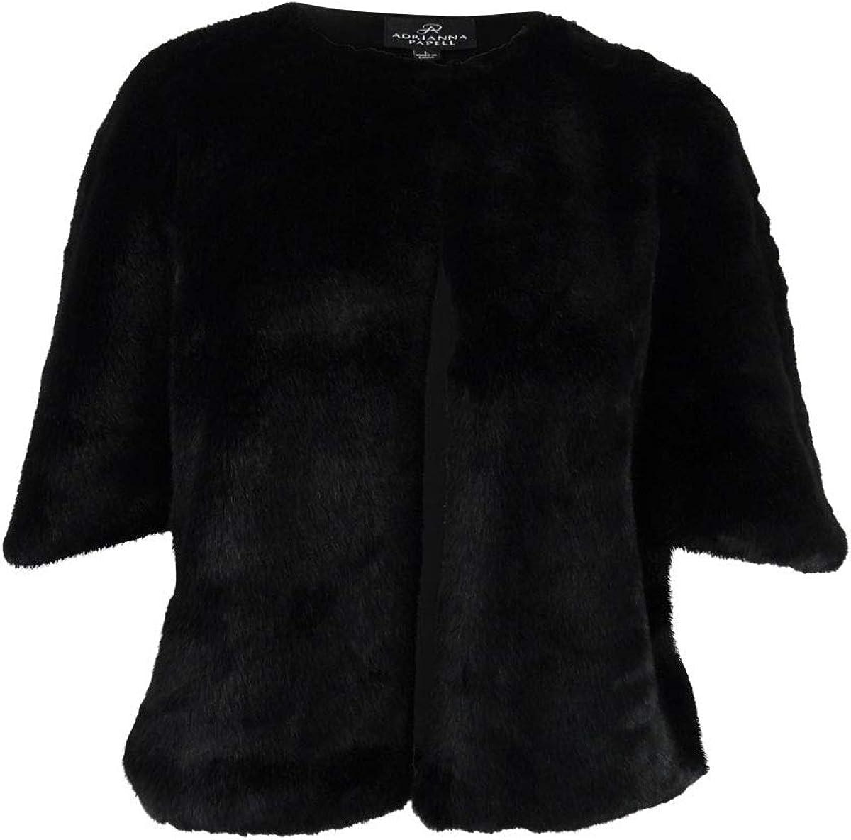 Adrianna Papell womens FAUX FUR JACKET Faux-Fur Coat