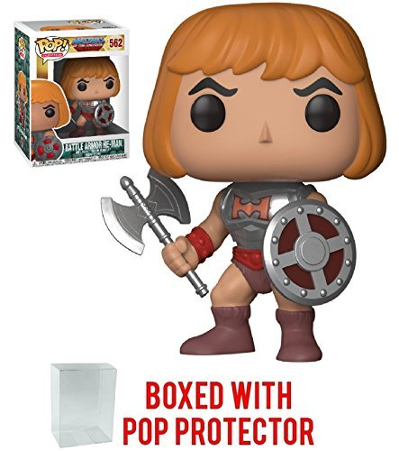 - Funko Pop! Television: Masters of the Universe - Battle Armor He-Man Vinyl Figure (Bundled with Pop BOX PROTECTOR CASE)