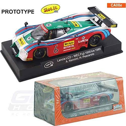 Slot.it Lancia LC2 Lancia Italya #6 WEC Fuji 1000 km 1985 Performance Slot Car (1:32 Scale) (Body Slot 32 Car Scale)