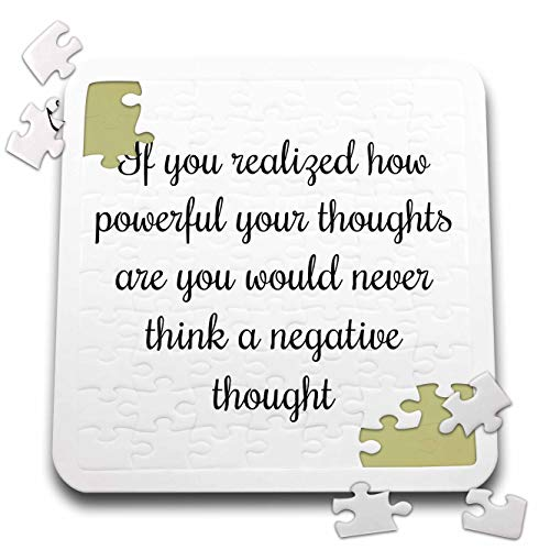 3dRose 3DRose Gabriella-Quote - Image of If You Realized How Powerful Your Thoughts are You Quote - 10x10 Inch Puzzle -