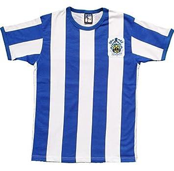 Camiseta de fútbol retro Huddersfield Town Año 1960 con escudo bordado - A  rayas ae998f48f03bd