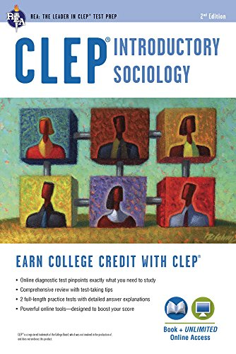 CLEP Introductory Sociology Book + Online (CLEP Test Preparation)