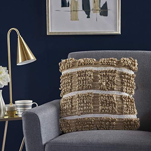 - Great Deal Furniture 301630 Selki Natural Jute Pillow