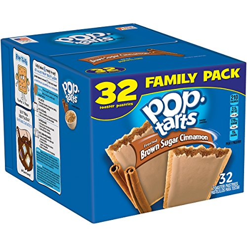 (Pop-Tarts Breakfast Toaster Pastries, Frosted Brown Sugar Cinnamon Flavored, Family Pack, 56.4 oz (32)