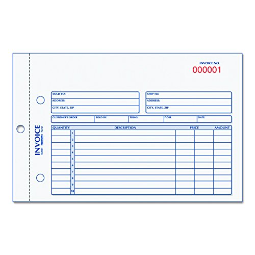 Rediform 7L721 Invoice Book, 5 1/2 x 7 7/8, Carbonless Duplicate, 50 Sets/Book ()