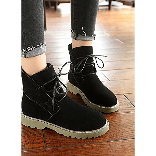PU Black Boots Casual Boots Round Shoes Army for Heel Flat Winter Army Women's HSXZ Toe Mid Green Green Calf Fall ZHZNVX Comfort Tw6qfWtx