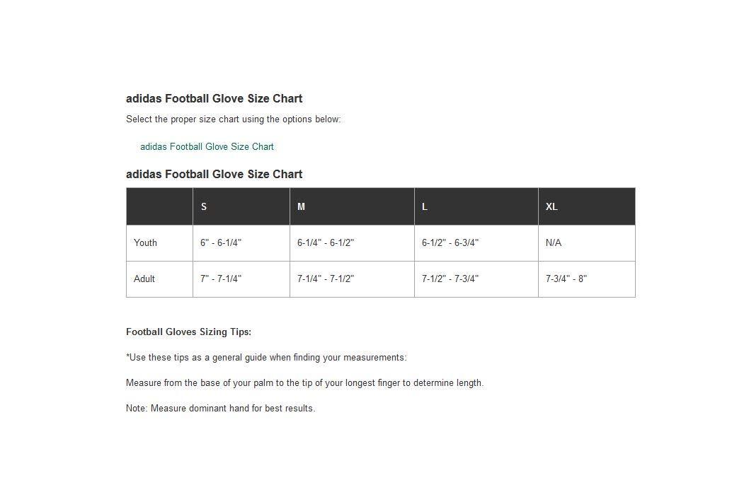 Adidas Youth Techfit Lineman Football Gloves