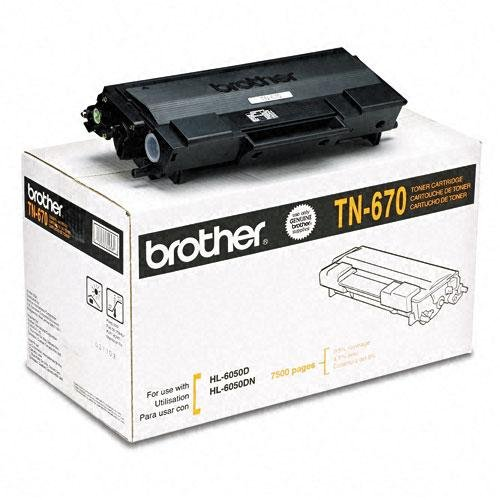 2 Pack Original Brother TN-670 (TN670) 7500 Yield Black Toner Cartridge - Retail