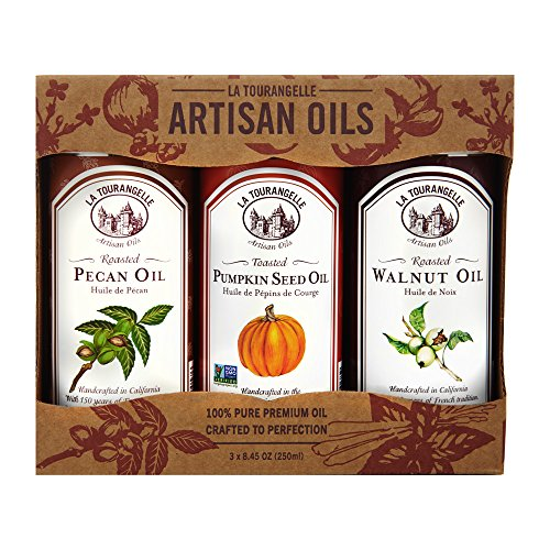 La Tourangelle, Pecan, Pumpkin, Walnut Trio of Oils, 25 Ounce