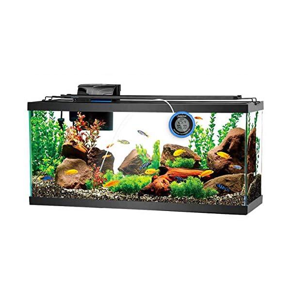 POPETPOP LCD Digital Aquarium Thermometer High Precision Digital Fish Tank Thermometer for Aquarium/Pond/Reptile Turtles Habitats (Blue) 8