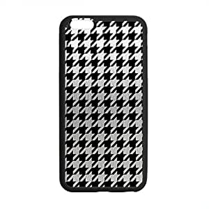 "Houndstooth Print Case for Iphone 6 4.7"" Black & White"