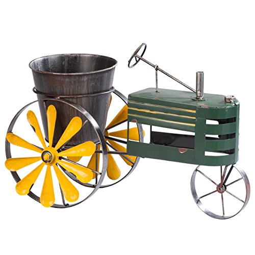 Miles Kimball Metal Tractor Windmill Planter by Fox River CreationsTM by Miles Kimball