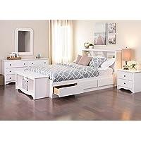 Prepac Monterey Queen 5 Piece Bedroom Set in White