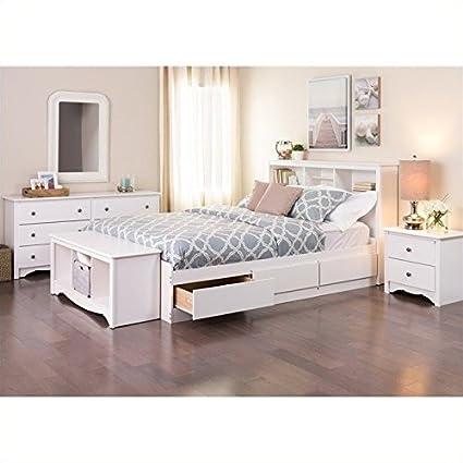amazon com prepac monterey queen 5 piece bedroom set in white rh amazon com 5 piece bedroom set full 5 piece bedroom set king