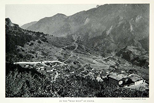 1928 Print Litang River Valley China Village Town Architecture Historical NGMA2 - Original Halftone - River Valley Mall