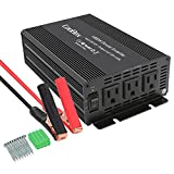 CooBox 1000W Car Power Inverter for Home Car RV with 3 AC Outlets Converter 12V DC to 110V AC Inverter Converter Adapter Battery Charger