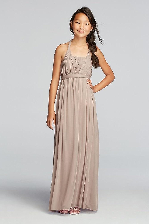 Amazon.com: Versa Convertible Junior Bridesmaid Mesh Dress Style ...