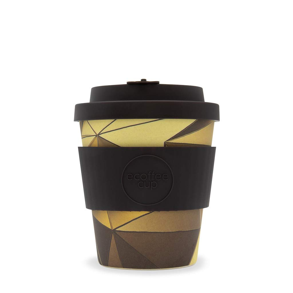 tops vari colori Blue Polka Ecoffee 226,8/gram 250/ml tazze con coperchio in silicone in fibra di bamb/ù naturale