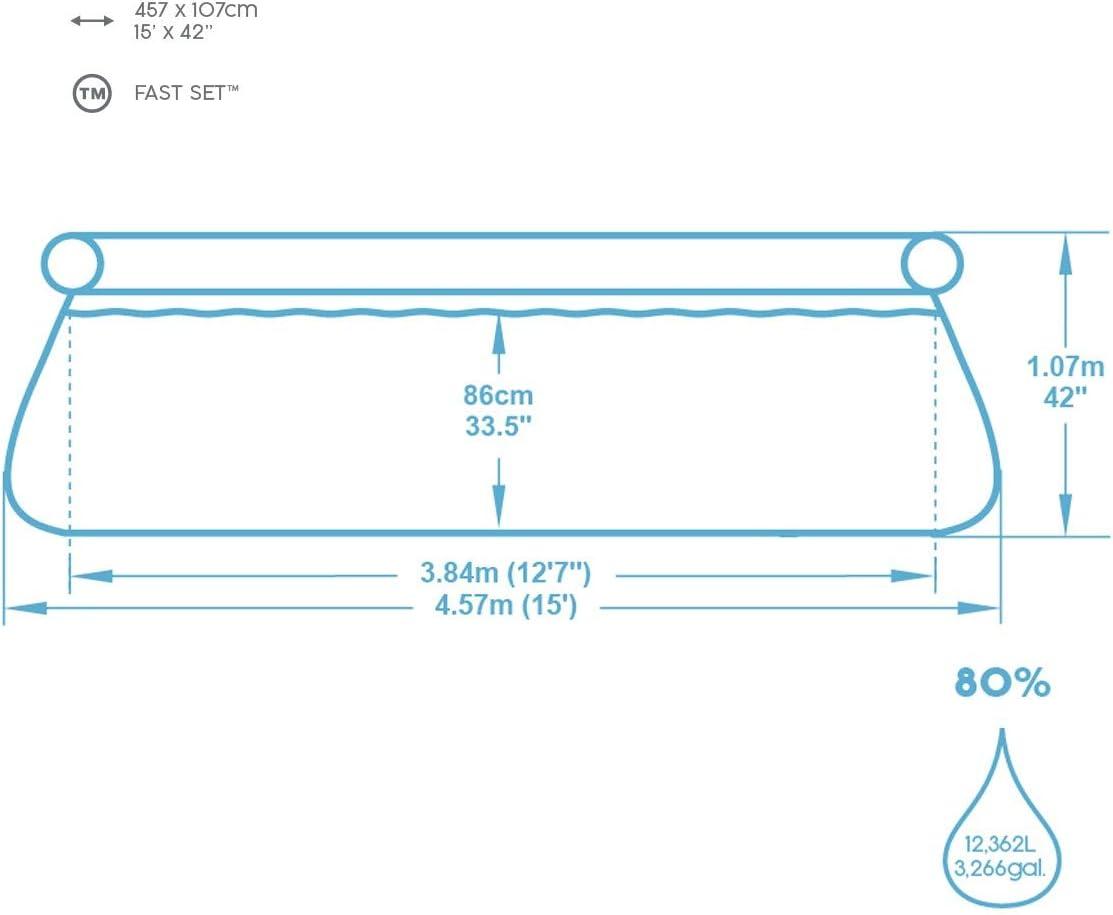 Bestway 57372 - Piscina Desmontable Fast Set 457x107 cm Depuradora ...