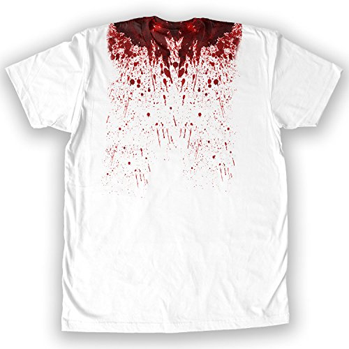 Death By Novelty - Bloody Collar Halloween Men's Costume T-Shirt White]()
