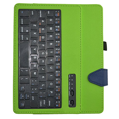 """Acer Iconia ONE 7 B1-750 Bluetooth Keyboard Case,Mama Mouth Coustom Design Slim Stand PU Leather Case Cover With Romovable Bluetooth Keyboard For 7"""""""" Acer Iconia ONE 7 B1-750 Android Tablet,Green"""