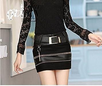 XiaoGao PU leather miniskirt