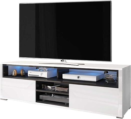 Selsey Mueble de TV, Blanco/Negro, 137 x 33 x 42,5: Amazon.es: Juguetes y juegos